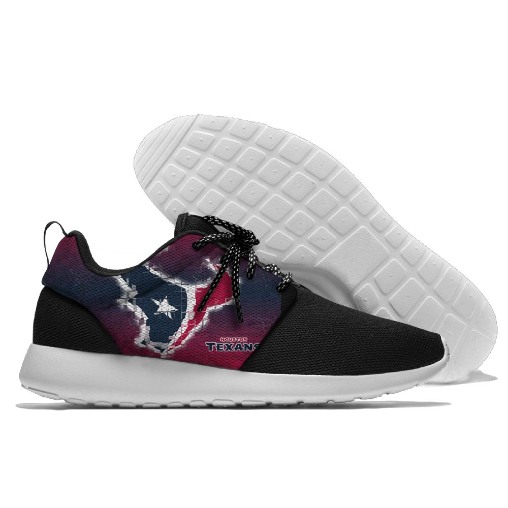 Women's NFL Houston Texans Roshe Style Lightweight Running Shoes 002