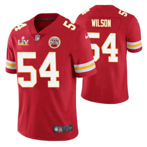 Men's Kansas City Chiefs #54 Damien Wilson Red 2021 Super Bowl LV Limited Stitched NFL Jersey