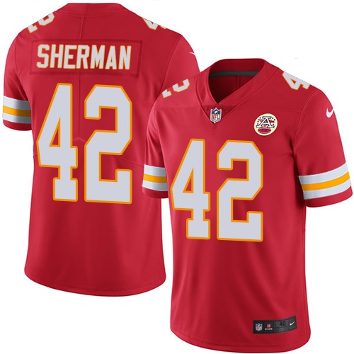 en's Kansas City Chiefs #42 Anthony Sherman Red Vapor Untouchable Limited Stitched NFL Jersey