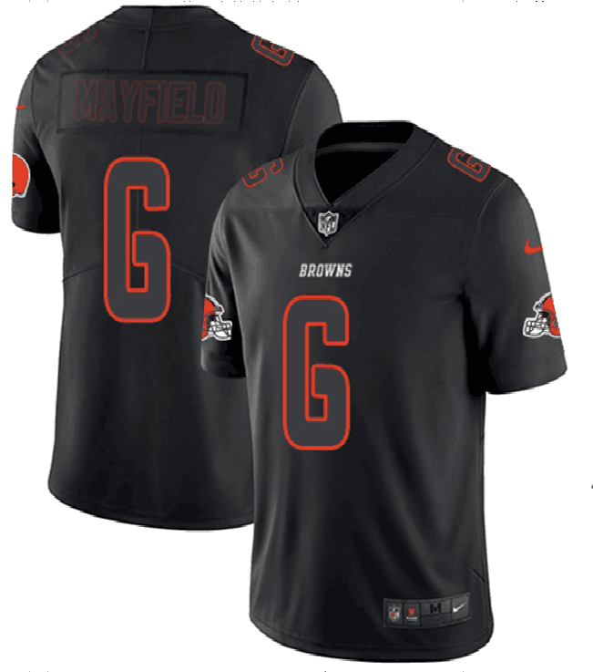 Men's Browns #6 Baker Mayfield 2018 Black Impact Limited Stitched NFL Jersey