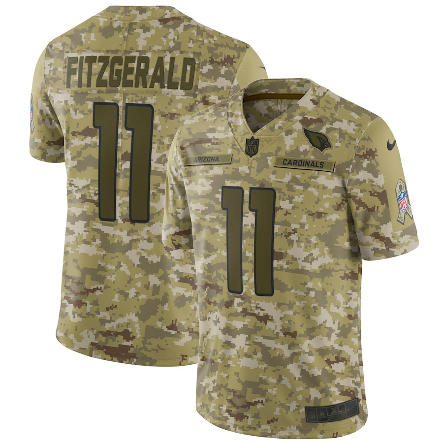 Men's Cardinals #11 Larry Fitzgerald 2018 Camo Salute to Service Limited Stitched NFL Jersey