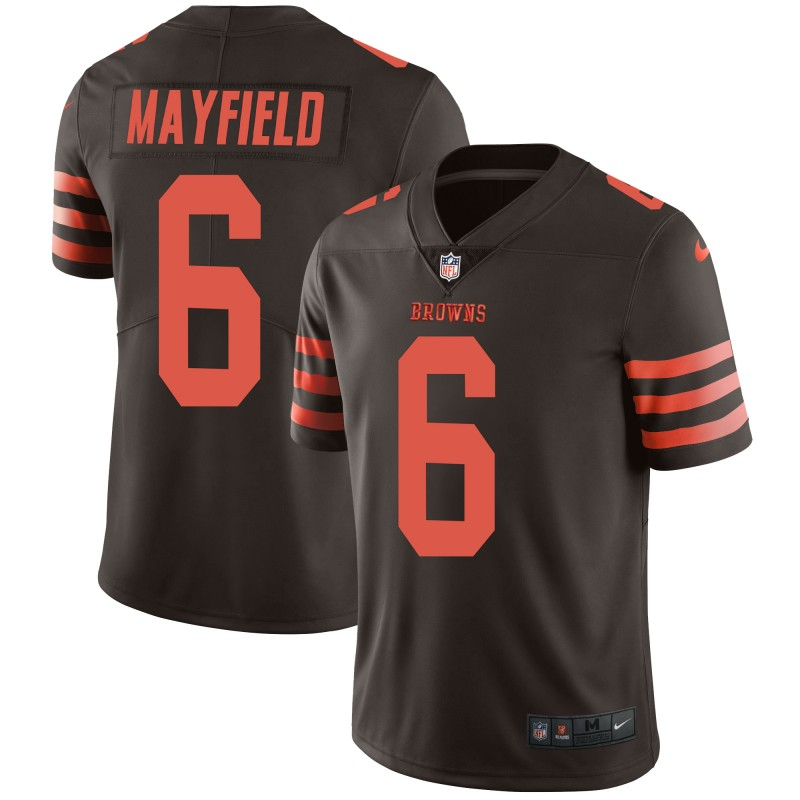 Men's Browns #6 Baker Mayfield Brown Color Rush Limited Stitched NFL Jersey
