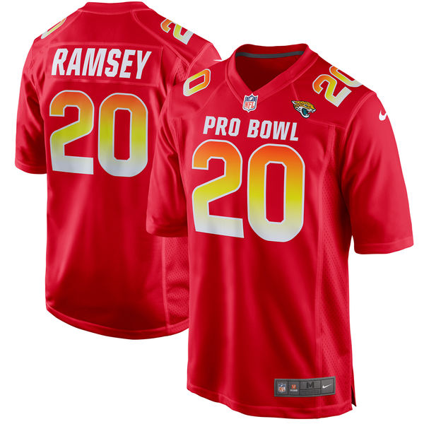 Men's AFC Jalen Ramsey Red 2018 Pro Bowl Game Jersey