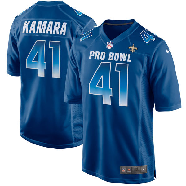 Men's NFC Alvin Kamara Royal 2018 Pro Bowl Game Jersey