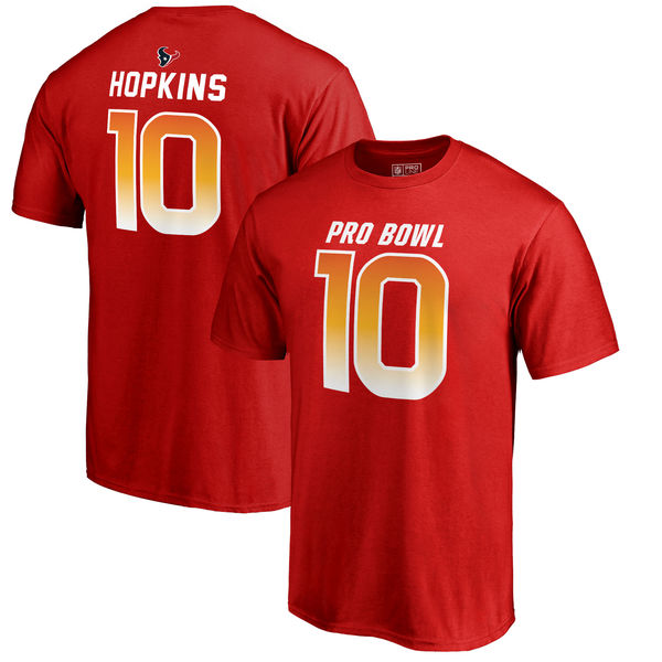 Texans DeAndre Hopkins AFC Pro Line 2018 NFL Pro Bowl Red T-Shirt