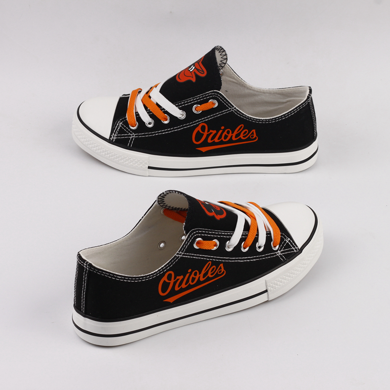 Women and Youth MLB Baltimore Orioles Repeat Print Low Top Sneakers