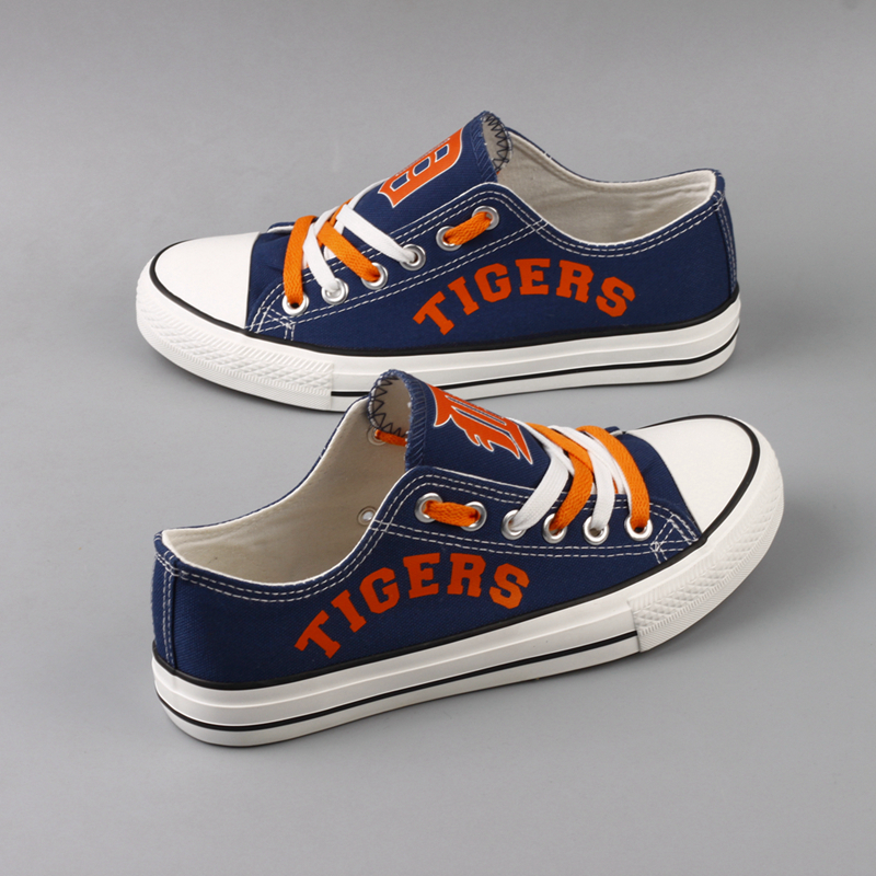 Women's MLB Detroit Tigers Repeat Print Low Top Sneakers 002