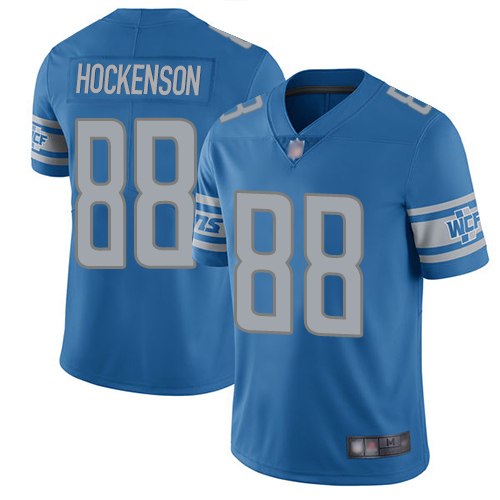 Men's Lions #88T.J. Hockenson Blue Vapor Untouchable Limited Stitched NFL Jersey
