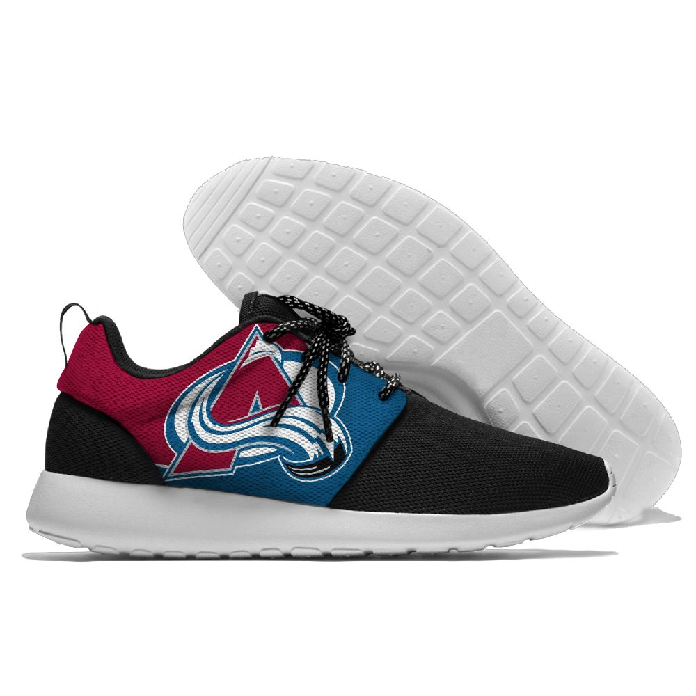 Men's NHL Colorado Avalanche Roshe Style Lightweight Running Shoes 002