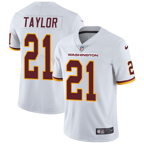 Men's Washington Football Team #21 Sean Taylor White Vapor Untouchable Limited Stitched NFL Jersey