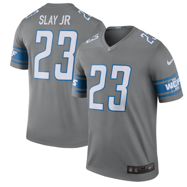 Nike Men's Detroit Lions #23 Darius Slay JR 2017 Color Rush Limited Legend NFL Jersey