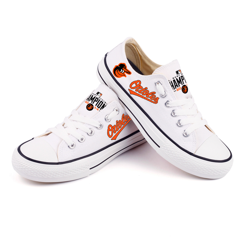 Women and Youth MLB Baltimore Orioles Repeat Print Low Top Sneakers 003