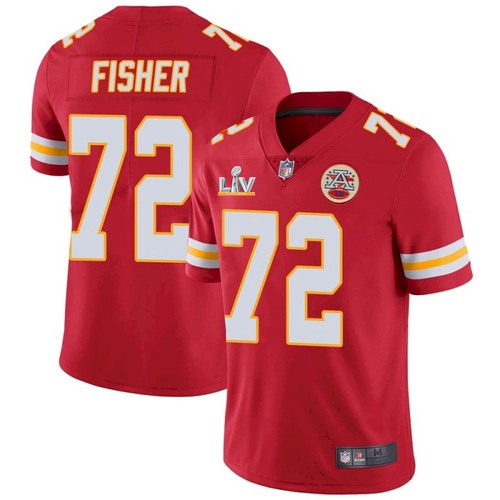 Men's Kansas City Chiefs #72 Eric Fisher Red 2021 Super Bowl LV Limited Stitched NFL Jersey