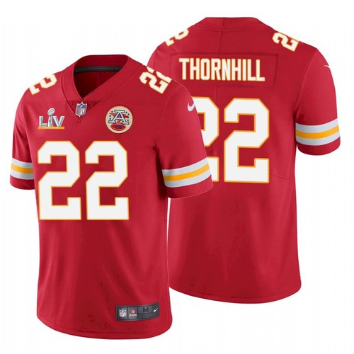 Men's Kansas City Chiefs #22 Juan Thornhill Red 2021 Super Bowl LV Limited Stitched NFL Jersey