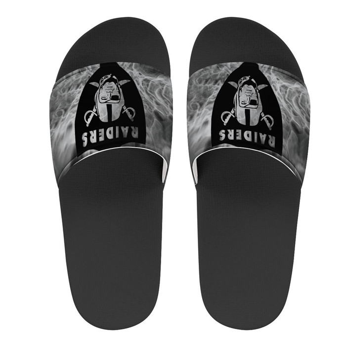 Youth Las Vegas Raiders Flip Flops 001