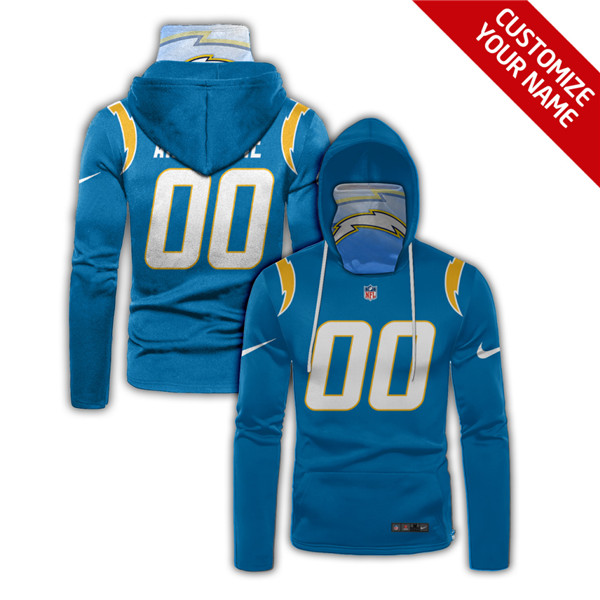 Men's Los Angeles Chargers Customize Stitched Hoodies Mask 2020