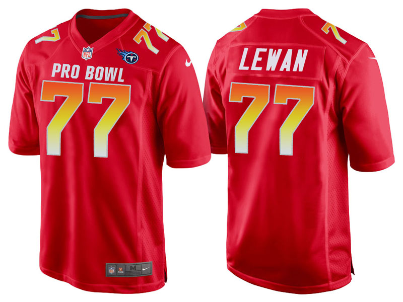 2018 Pro Bowl AFC Tennessee Titans #77 Taylor Lewan Red Game Jersey