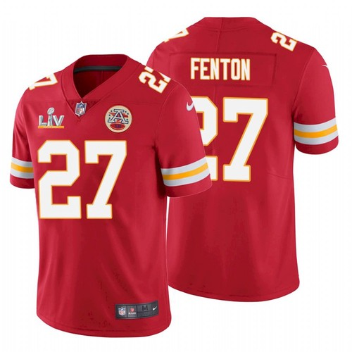 Men's Kansas City Chiefs #27 Rashad Fenton Red 2021 Super Bowl LV Limited Stitched NFL Jersey