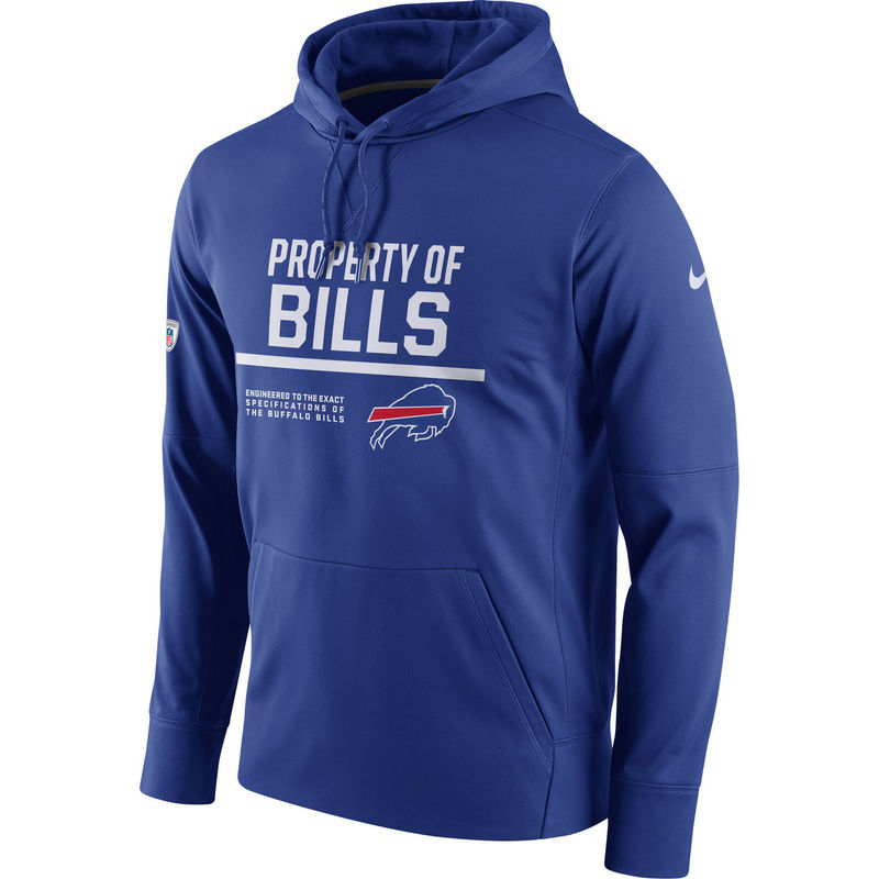 Men's Buffalo Bills Nike Royal Circuit Property Of Performance Pullover Hoodie