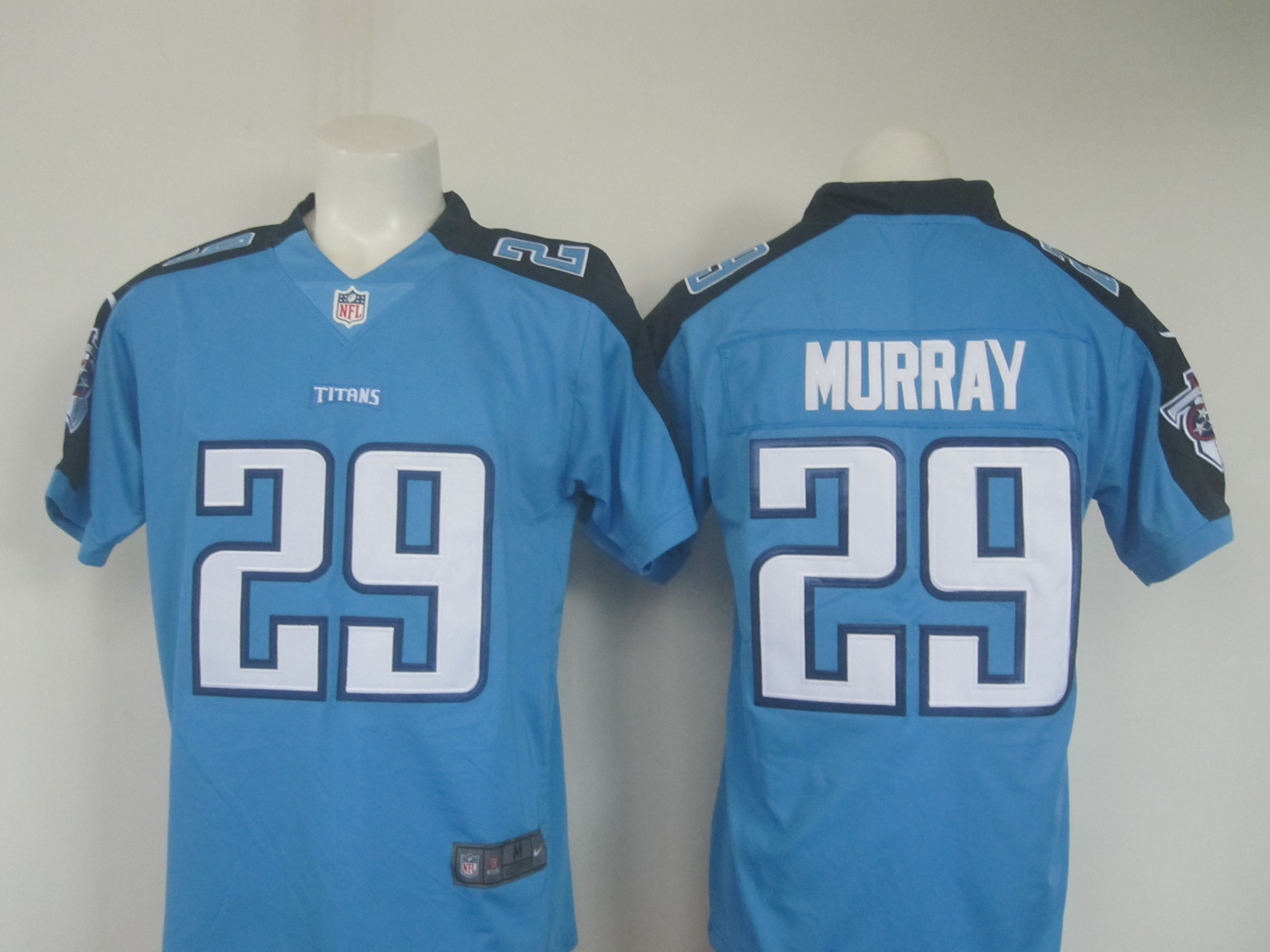7740c2e6a44 Men's Nike Titans #29 DeMarco Murray Light Blue Limited Rush Stitched NFL  Jersey