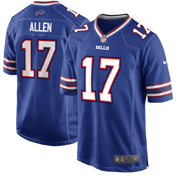 Men's Buffalo Bills #17 Josh Allen Royal 2018 NFL Draft First Round Pick Game Jersey