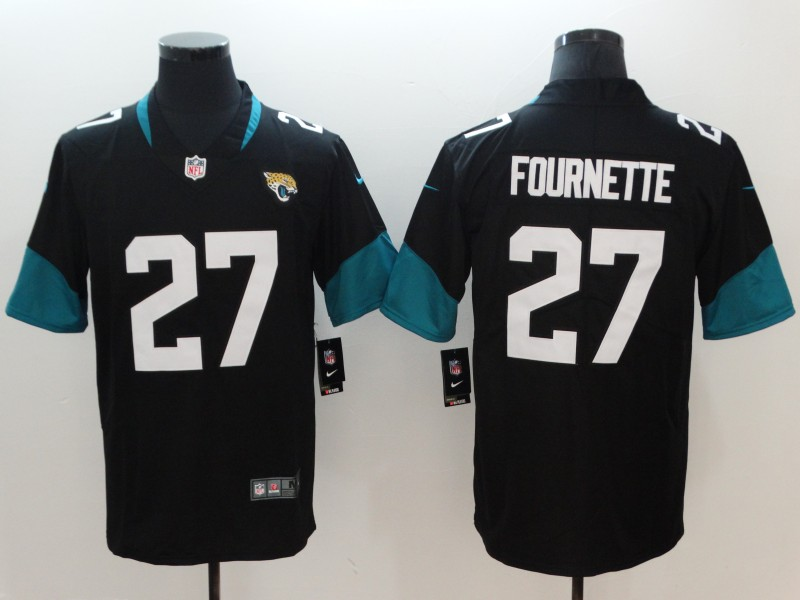Men's NFL Jacksonville Jaguars #27 Leonard Fournette Black New 2018 Vapor Untouchable Limited Stitched Jersey