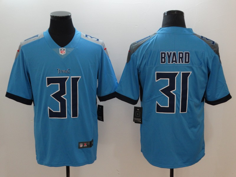 Men's Tennessee Titans #31 Kevin Byard Light Blue New 2018 Vapor Untouchable Limited Stitched Jersey