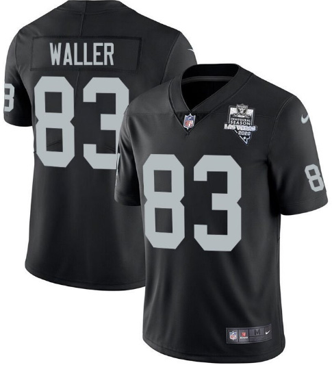 Men's Oakland Raiders #83 Darren Waller Black 2020 Inaugural Season Vapor Untouchable Limited Stitched NFL Jersey
