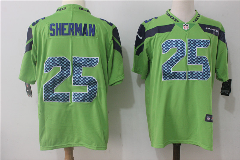 Men's Nike Seattle Seahawks #25 Richard Sherman Green Stitched NFL Vapor Untouchable Limited Jersey