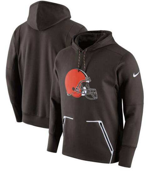 Men's Nike Cleveland Browns Brown Champ Drive Vapor Speed Pullover Hoodie