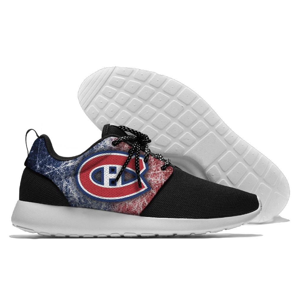 Women's NHL Montreal Canadiens Roshe Style Lightweight Running Shoes 003