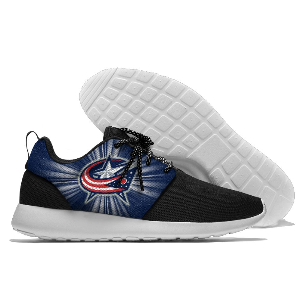 Women's NHL Columbus Blue Jackets Roshe Style Lightweight Running Shoes 003
