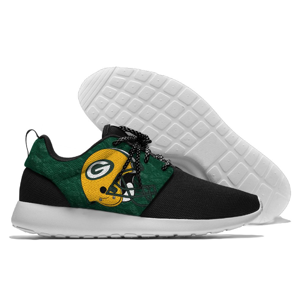 Women's NFL Green Bay Packers Roshe Style Lightweight Running Shoes 003