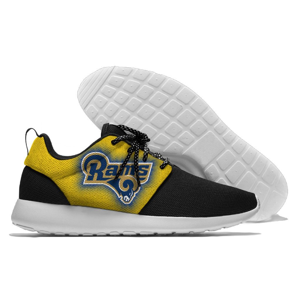 Women's NFL Los Angeles Rams Roshe Style Lightweight Running Shoes 003