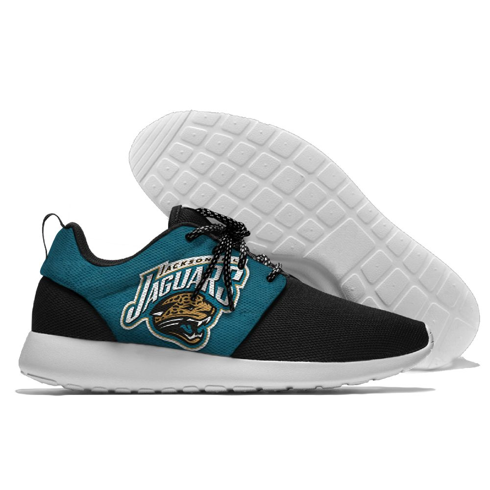 Men's NFL Jacksonville Jaguars Roshe Style Lightweight Running Shoes 003