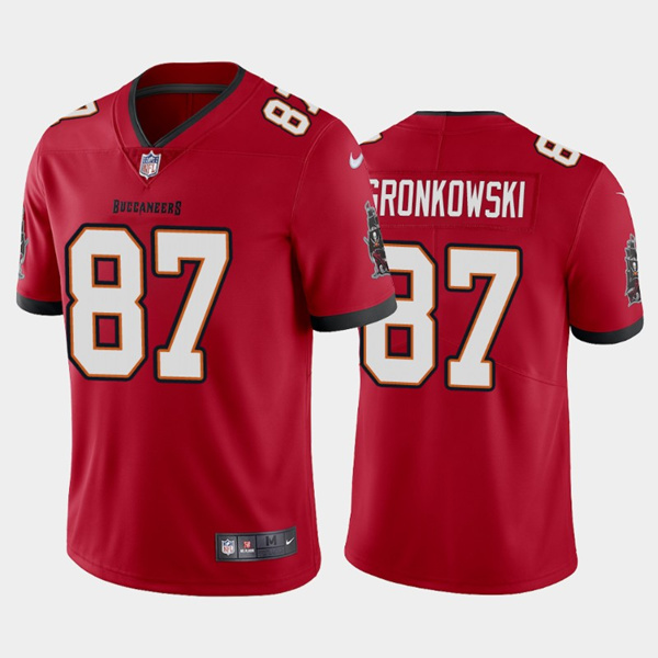 Men's Tampa Bay Buccaneers #87 Rob Gronkowski 2020 Red Vapor Untouchable Limited Stitched NFL Jersey