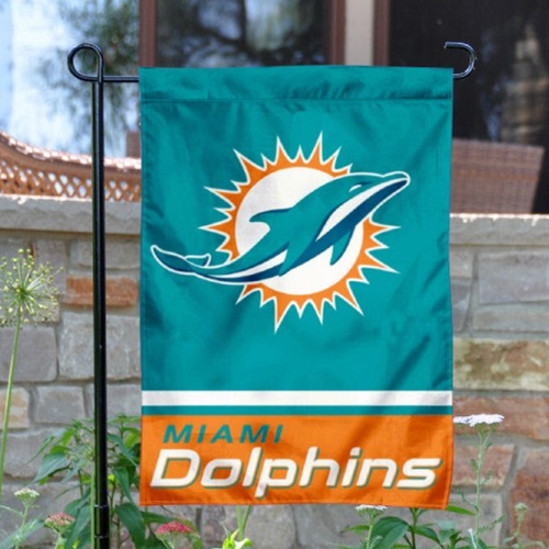 Miami Dolphins Double-Sided Garden Flag 001 (Pls Check Description For Details)