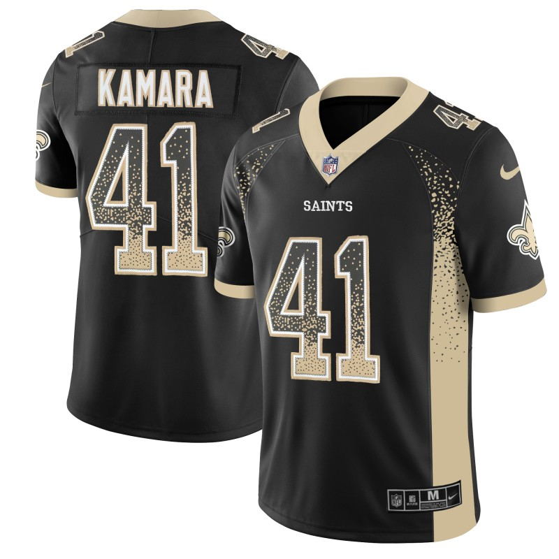 Men's Saints #41 Alvin Kamara Black 2018 Drift Fashion Color Rush Limited Stitched NFL Jersey