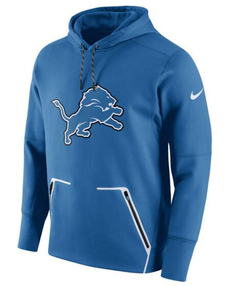 Men's Nike Detroit Lions Royal Champ Drive Vapor Speed Pullover Hoodie