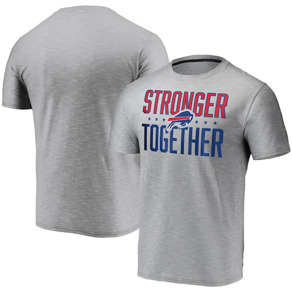 Men's Buffalo Bills Grey Charcoal Stronger Together T-Shirt