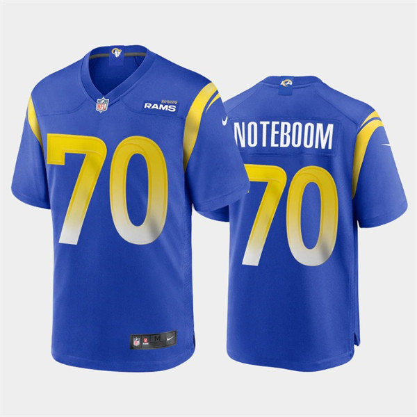 Men's Los Angeles Rams #70 Joseph Noteboom 2020 Royal NFL Stitched Jersey
