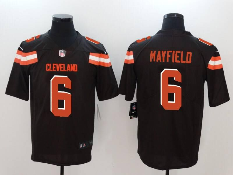 Men's Cleveland Browns #6 Baker Mayfield Brown 2018 NFL Draft Vapor Untouchable Limited Stitched Jersey