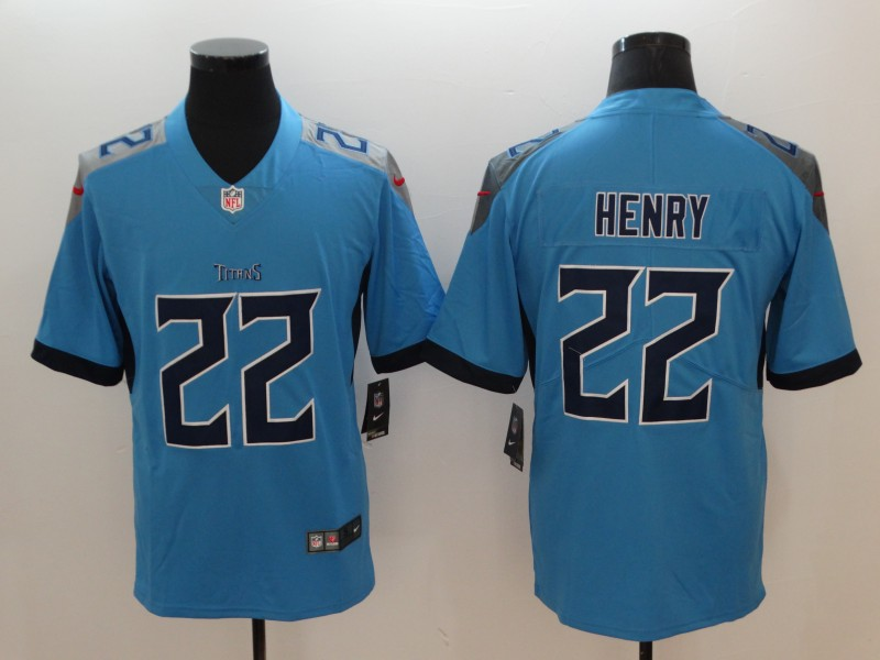 Men's Tennessee Titans #22 Derrick Henry Light Blue New 2018 Vapor Untouchable Limited Stitched Jersey