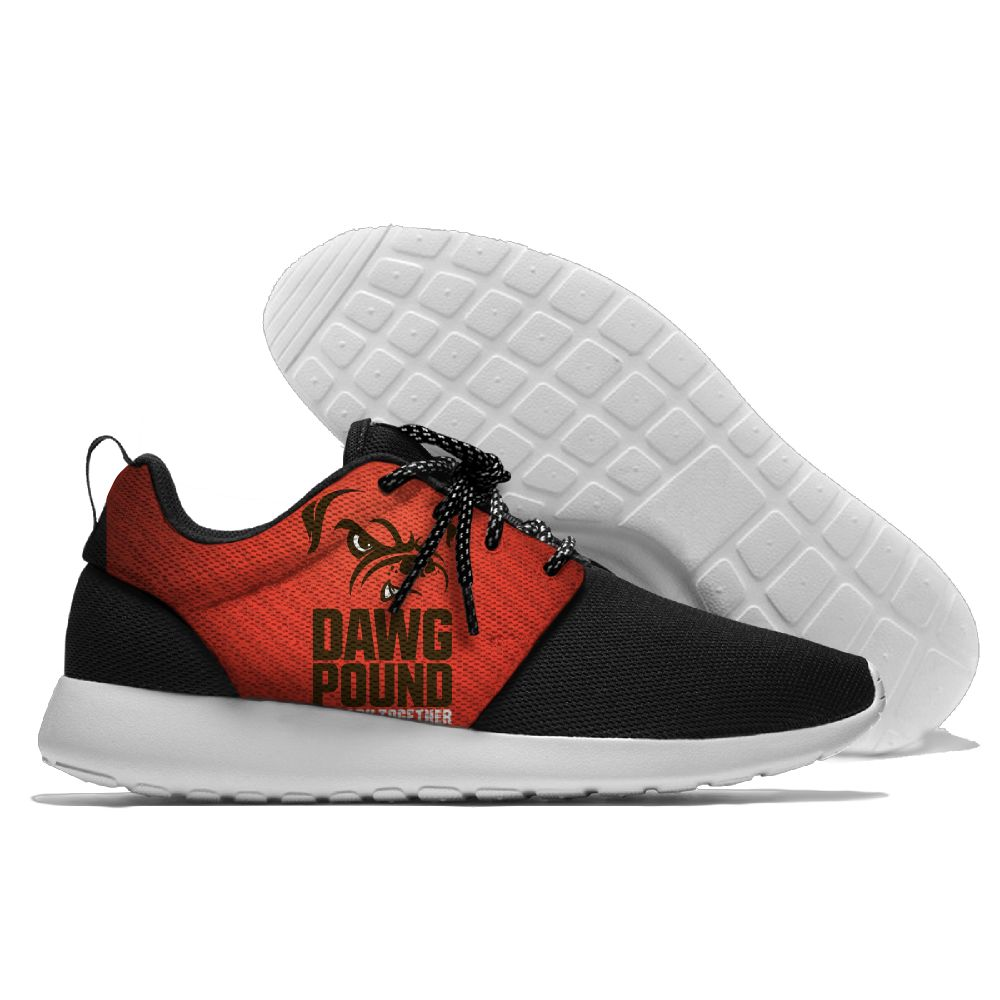 Women's NFL Cleveland Browns Roshe Style Lightweight Running Shoes 004