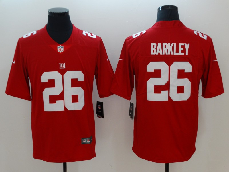 Men's New York Giants #26 Saquon Barkley Red 2018 NFL Draft Vapor Untouchable Limited Stitched Jersey