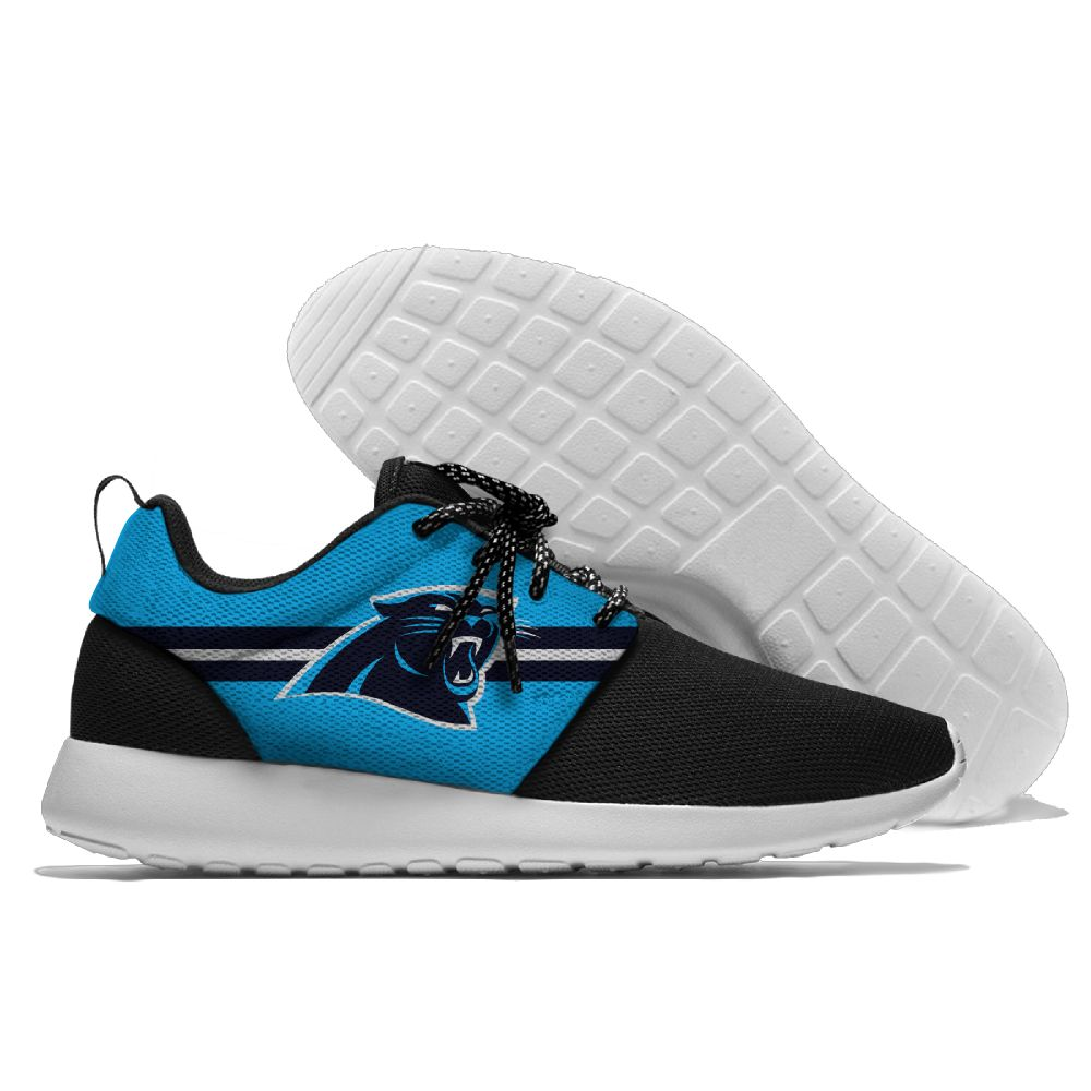 Women's NFL Carolina Panthers Roshe Style Lightweight Running Shoes 004