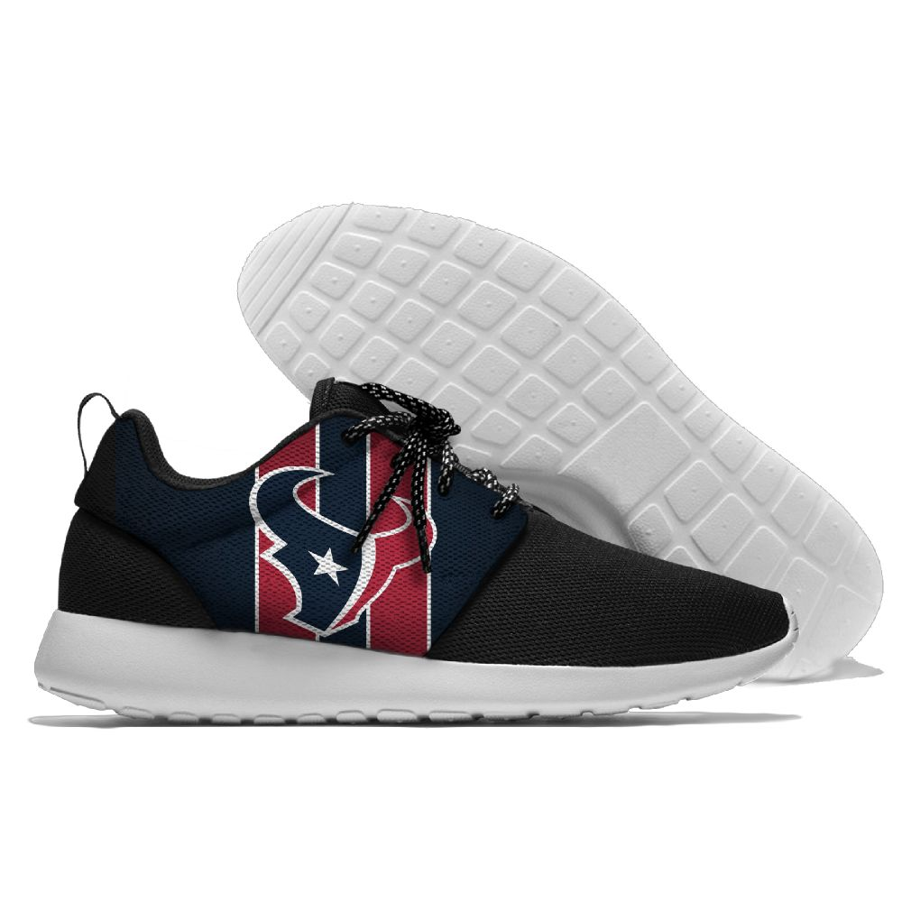 Women's NFL Houston Texans Roshe Style Lightweight Running Shoes 004