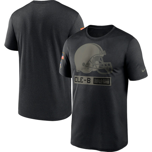 Men's Cleveland Browns 2020 Black Salute To Service Performance NFL T-Shirt