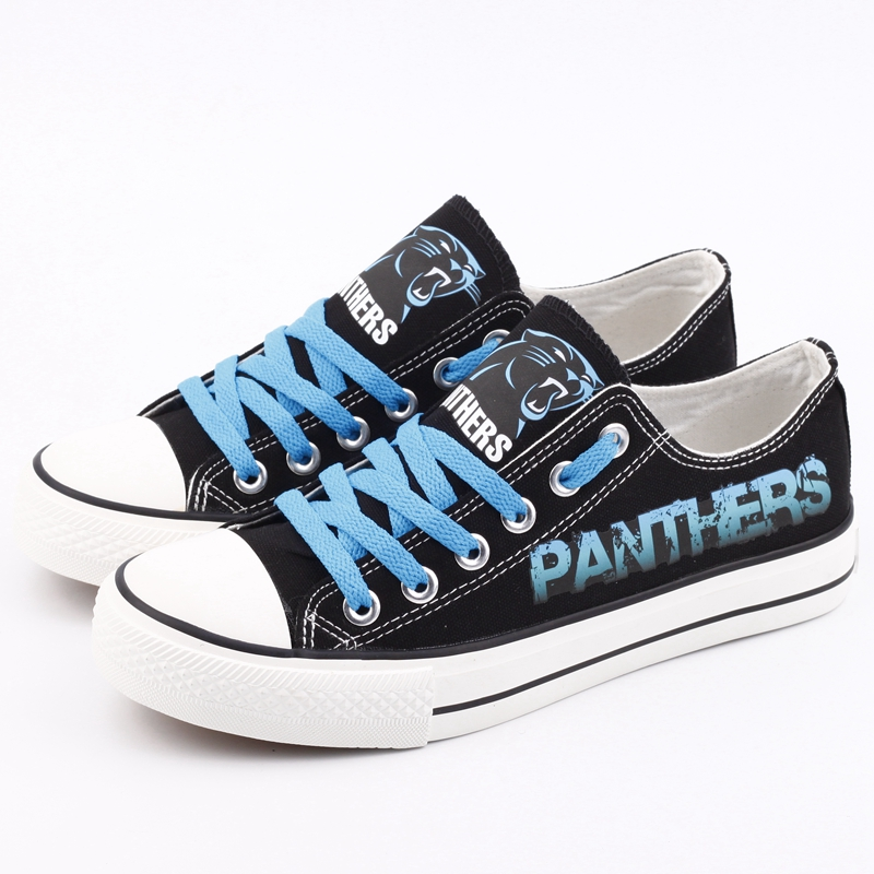 Men's NFL Carolina Panthers Repeat Print Low Top Sneakers 002