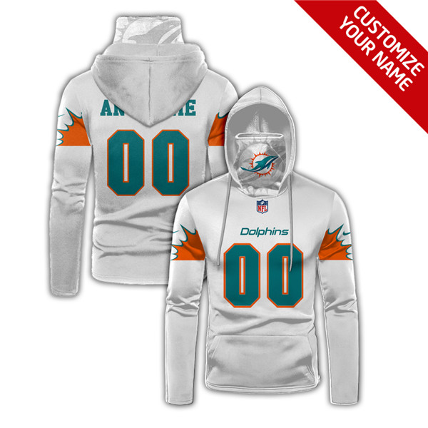 Men's Miami Dolphine Customize Stitched Hoodies Mask 2020